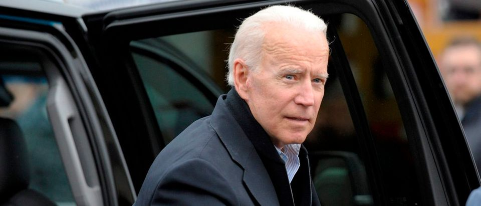 Former US vice president Joe Biden arrives at a rally organized by UFCW Union members to support Stop and Shop employees on strike throughout the region at the Stop and Shop in Dorchester, Massachusetts, on April 18, 2019. - The 76-year-old Biden has not yet officially thrown his hat in the ring for the 2020 presidential election. (Joseph Prezioso/AFP/Getty Images)