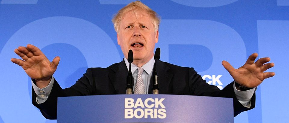 Boris Johnson launches his Conservative Party leadership campaign at the Academy of Engineering on June 12, 2019 in London, England. (Photo by Leon Neal/Getty Images)