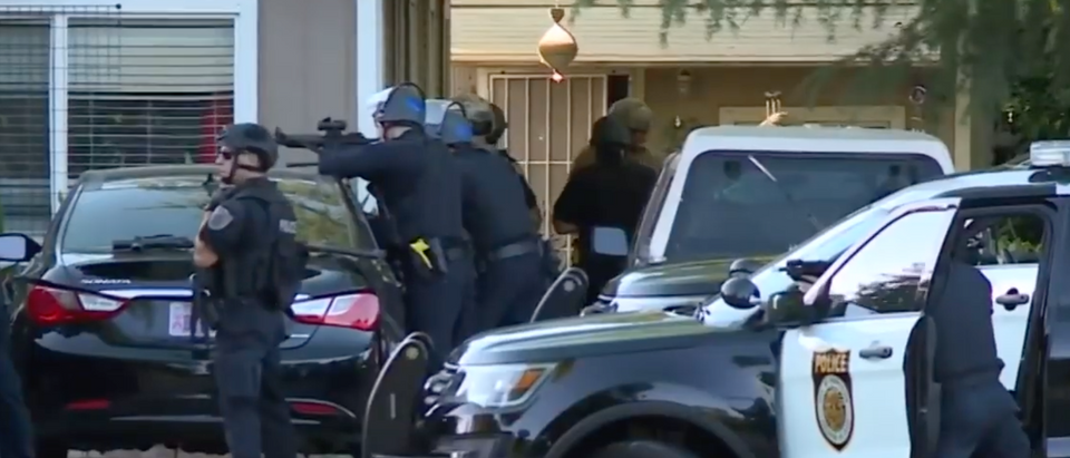 Sacramento Police respond to domestic call resulting on death of rookie officer. Screen Shot/CBS News