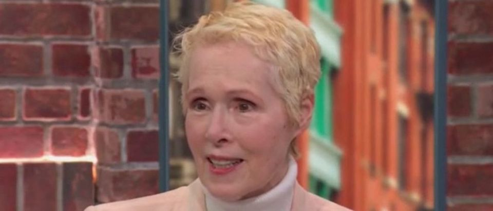 Advice columnist E. Jean Carroll spoke with CNN about her sexual assault allegation against President Donald Trump in her book on June 24, 2019. Grabien screenshot