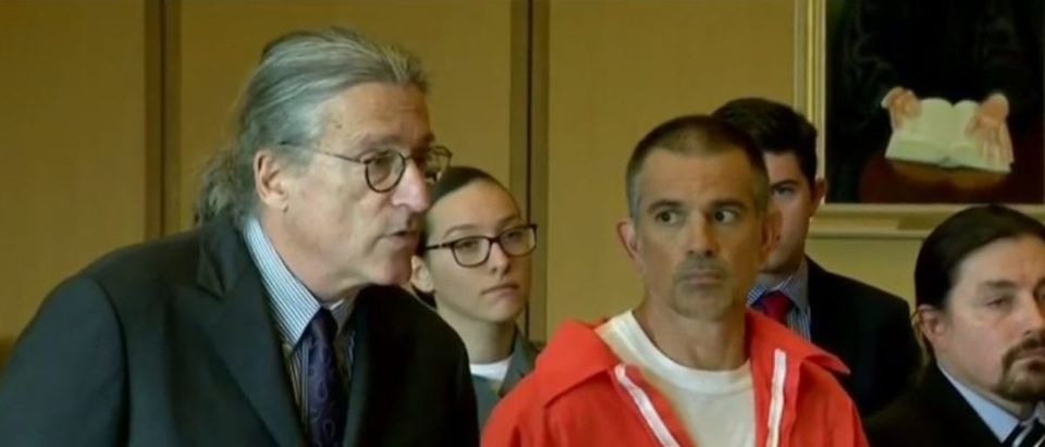 Fotis Dulos (L) and his defense attorney Norm Pattis (R) appear in court June 11, 2019. YouTube screenshot/CBS New York