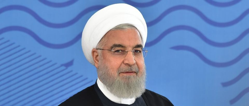Iran's President Hassan Rouhani attends the Shanghai Cooperation Organisation (SCO) summit in Bishkek on June 14, 2019. (VYACHESLAV OSELEDKO/AFP/Getty Images)