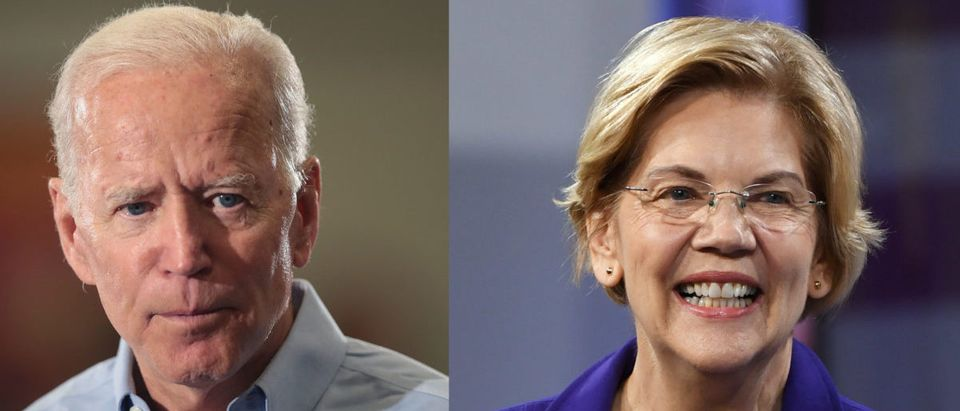 Joe Biden and Elizabeth Warren are pictured. (Scott Olson/Getty Images; Ethan Miller/Getty Images)