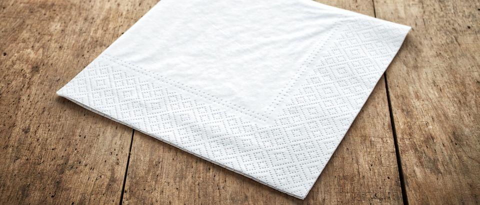 James Warner's napkin (Credit: Shutterstock)