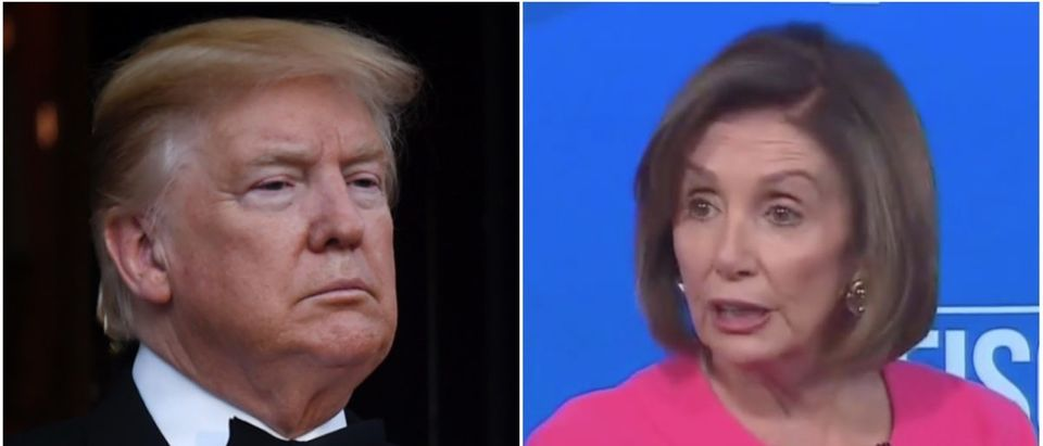 Left: Donald Trump (Getty Images), Right: Nancy Pelosi (CNN)