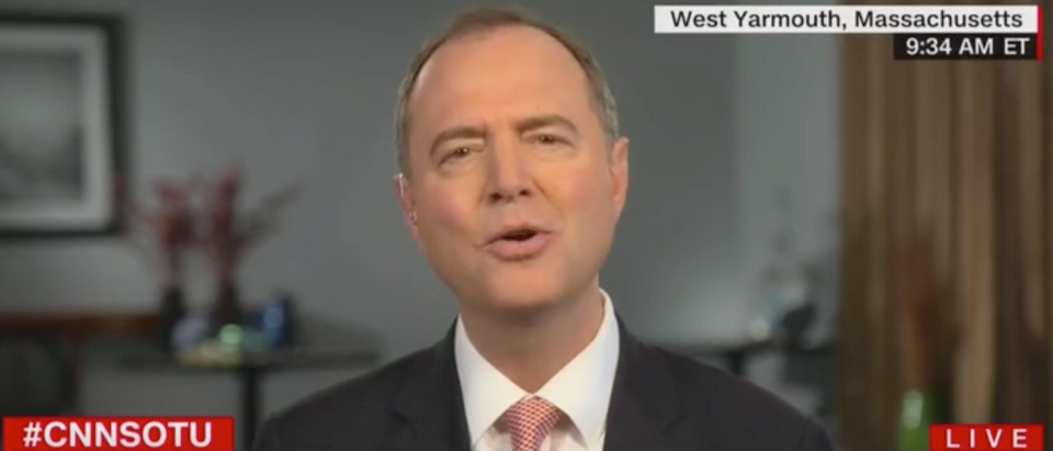 "Rep. Adam Schiff appears on CNN's""State of the Union,"" 6/23/19. Screen Shot/CNN"