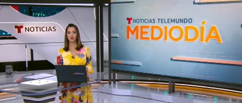 "Telemundo will now use ""climate emergency"" to describe global warming. Source: Screenshot of Noticias Telemundo/Youtube"
