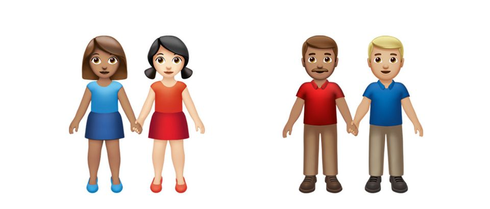 Apple's new same-sex couple emojis (Download/Apple, Inc.)