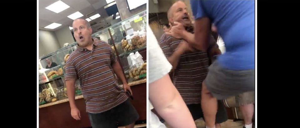 Bagel Store Fight (Credit: Screenshot/Twitter https://twitter.com/oliviabradley88/status/1148958211531268099?s=12)