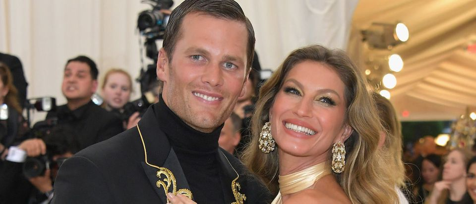 Tom Brady and Gisele Bundchen attends the Heavenly Bodies: Fashion & The Catholic Imagination Costume Institute Gala at The Metropolitan Museum of Art on May 7, 2018 in New York City. (Photo by Neilson Barnard/Getty Images)