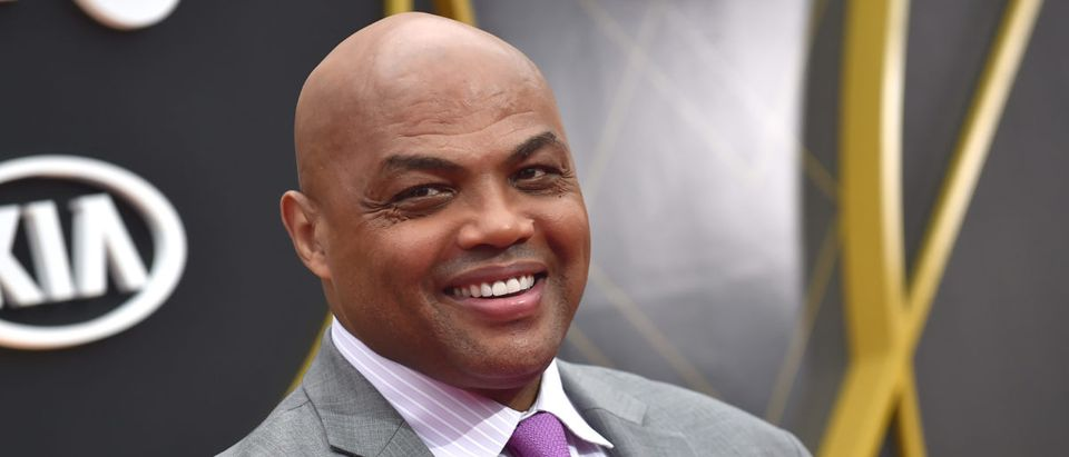 US basketball player Charles Barkley arrives for the 2019 NBA Awards at Barker Hangar on June 24, 2019 in Santa Monica, California. (Photo credit LISA O'CONNOR/AFP/Getty Images)