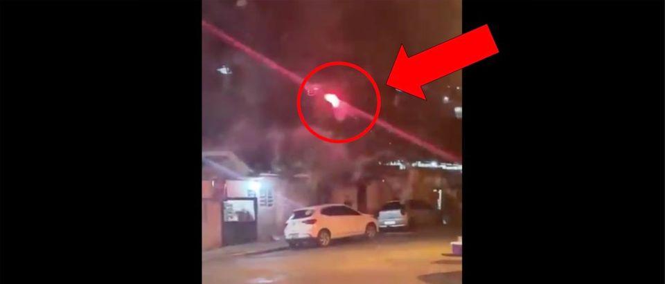 Fireworks Attack (Credit: Screenshot/Twitter Video https://twitter.com/CarlForrest/status/1150856399158730752?s=20)