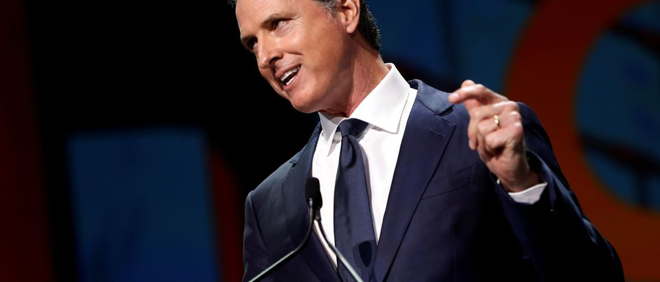 California's Gov. Gavin Newsom speaks during the California Democratic Convention in San Francisco, California, U.S., June 1, 2019. REUTERS/Stephen Lam/File Photo