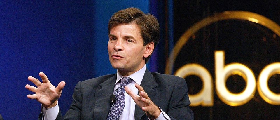 "Anchor of ""This Week"" George Stephanopoulos, speaks with the press during day one of the ABC Summer TCA Press Tour at the Century Plaza Hotel on June 12, 2004 in Los Angeles, California. (Photo by Frederick M. Brown/Getty Images)"