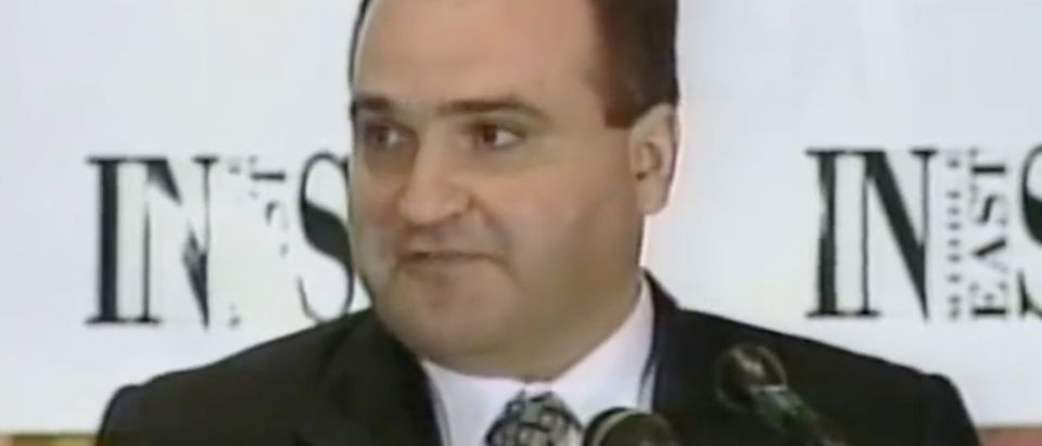 George Nader speaks at Middle East Insight event, June 17, 1998. (Screenshot via C-SPAN)