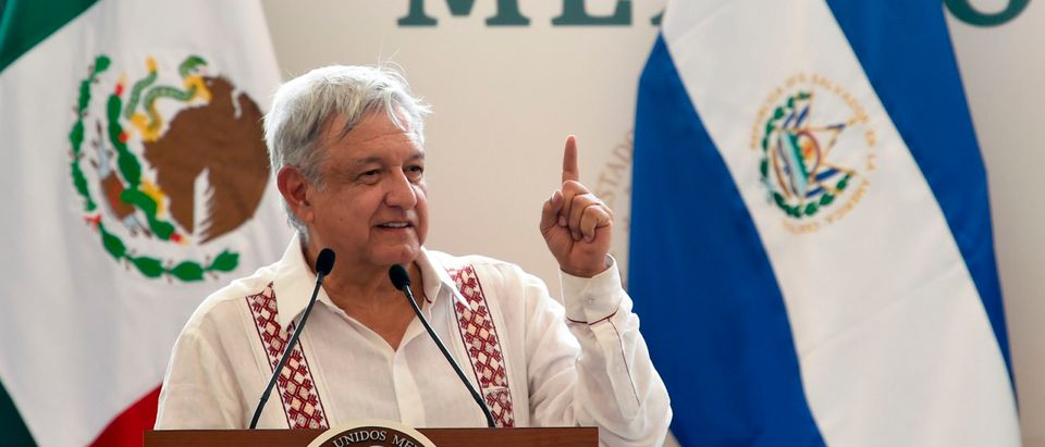 Mexican President Andres Manuel Lopez Obrador Speaks In Chiapas (Photo by ALFREDO ESTRELLA/AFP/Getty Images)