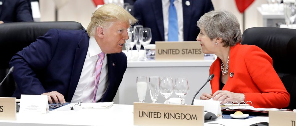 President Trump Speaks To Theresa May (Photo by Kiyoshi Ota - Pool/Getty Images)