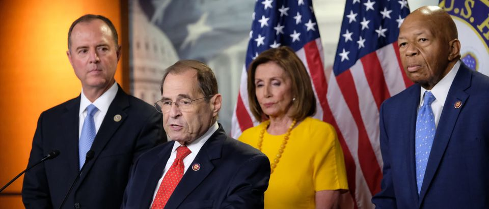 House Speaker Nancy Pelosi, Intelligence Committee Chair Adam Schiff, And Judiciary Committee Chair Jerold Nadler Hold News Conference After Mueller Hearing