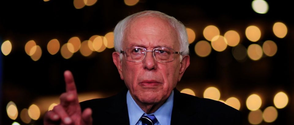 Democratic presidential candidate Sen. Bernie Sanders (I-VT) speaks to the media after the second night of the first Democratic presidential debate on June 27, 2019 in Miami, Florida. (Cliff Hawkins/Getty Images)