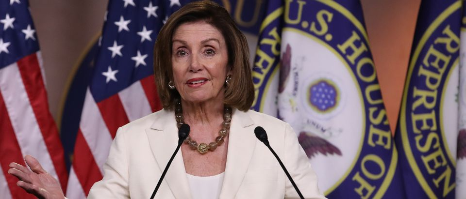Speaker of the House Nancy Pelosi answers questions during a press conference at the U.S. Capitol on July 11, 2019 in Washington, DC. (Win McNamee/Getty Images)