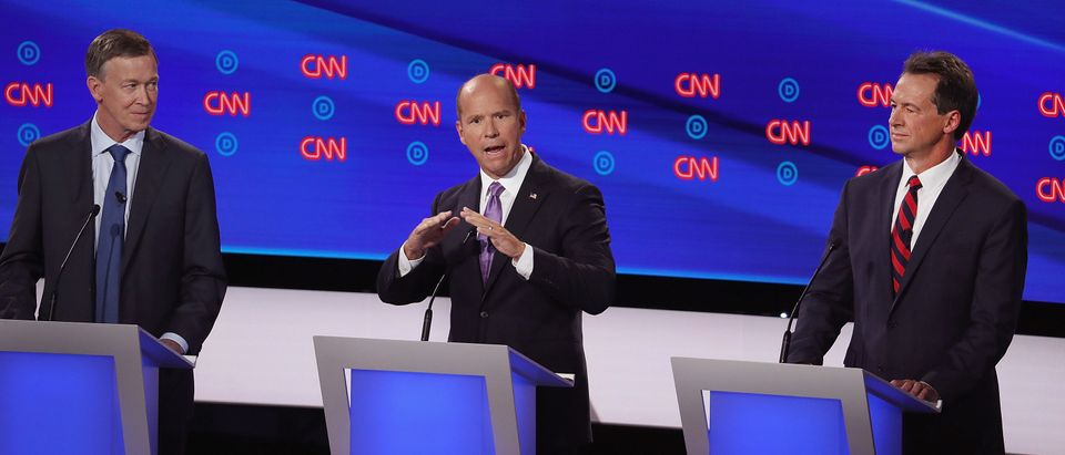 DETROIT, MICHIGAN - JULY 30: <> during the Democratic Presidential Debate at the Fox Theatre July 30, 2019 in Detroit, Michigan. 20 Democratic presidential candidates were split into two groups of 10 to take part in the debate sponsored by CNN held over two nights at Detroit's Fox Theatre. (Photo by Justin Sullivan/Getty Images)