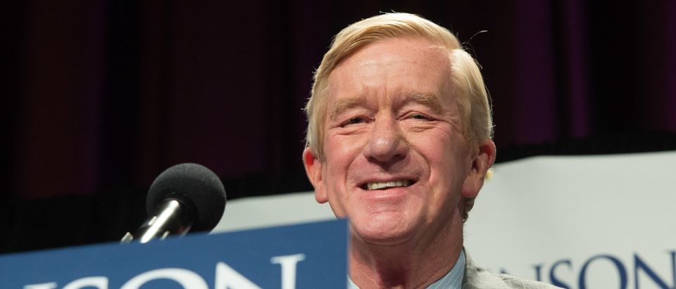 Libertarian vice-presidential candidate William Weld speaks at a rally Saturday, September 10, 2016 in New York. (BRYAN R. SMITH/AFP/Getty Images)