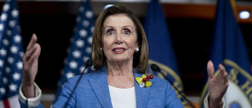 House Speaker Nancy Pelosi, a Democrat from California, speaks during a news conference on Capitol Hill in Washington, D.C.