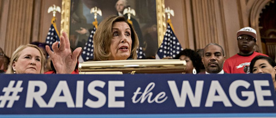 House Speaker Nancy Pelosi, a Democrat from California, speaks during a news conference on the Raise the Wage Act (H.R. 582) at the U.S. Capitol in Washington, D.C.