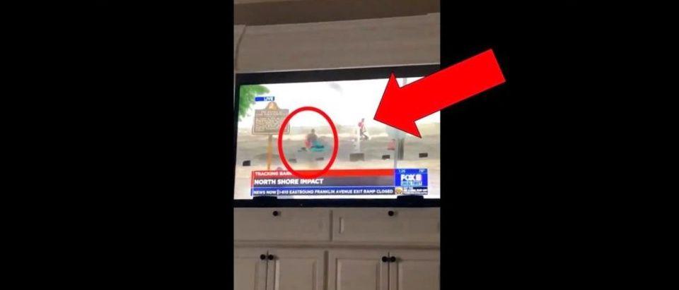 Hurricane Barry Jet Skis (Credit: Screenshot/Twitter Video/https://twitter.com/kayleighcotton_/status/1150160114290241537?s=21)