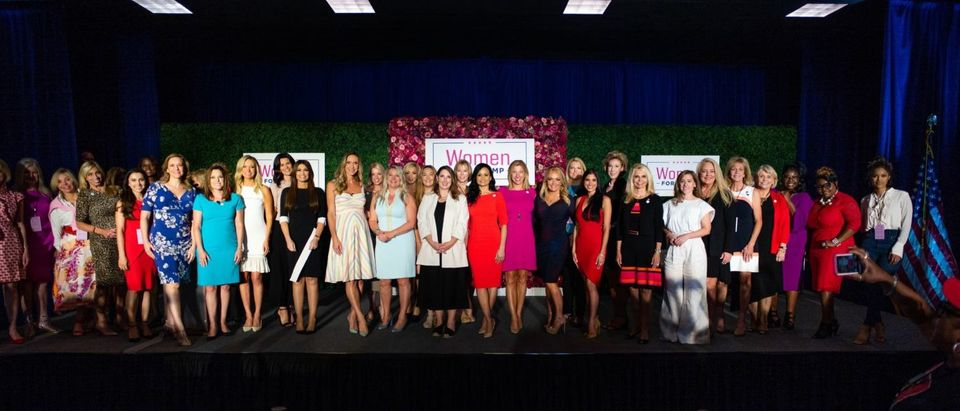 """Women for Trump"" advisory board gathers for a photo after the official coalition launch in King of Prussia, PA (Photo provided to the Daily Caller by the Trump Campaign)"