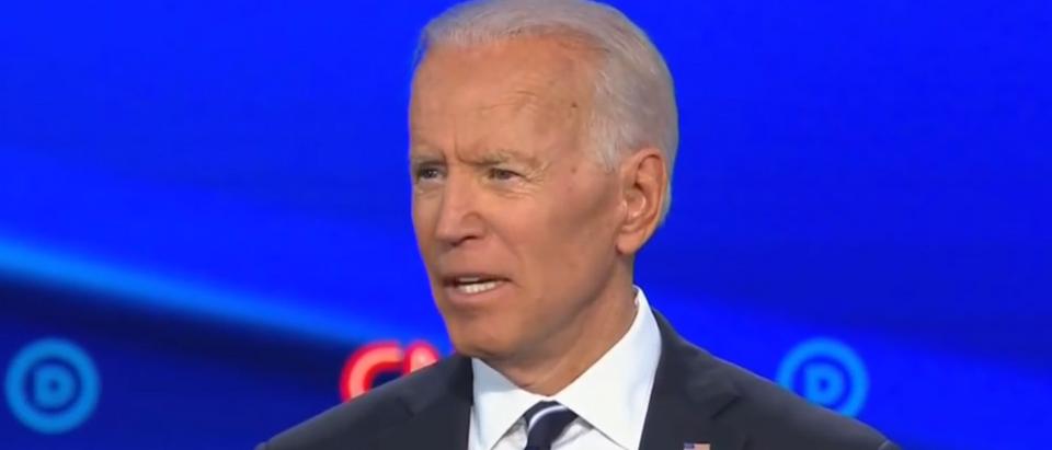 Joe Biden gets interrupted by protesters (CNN screengrab)