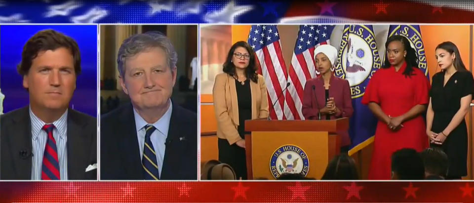 John Kennedy blasts the Squad (Fox News screengrab)