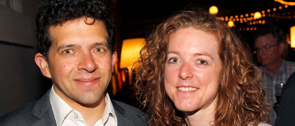 Journalist Benjamin Freed and Chief of Staff for the Iraq and Afghanistan Veterans of America Allison Jaslow attend the Washington DC Screening of War Machine at Landmark E Street Cinema on May 17, 2017 in Washington, DC