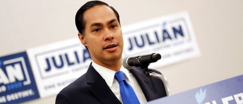 Former HUD Secretary and Democratic presidential candidate Julian Castro speaks to members of the media in Miami