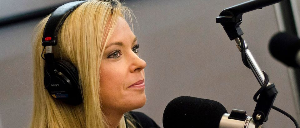 """Kate Gosselin speaks on SiriusXM's """"Broadminded"""" radio show at SiriusXM Studio on March 2, 2012 in Washington, DC. (Photo by Kris Connor/Getty Images)"""