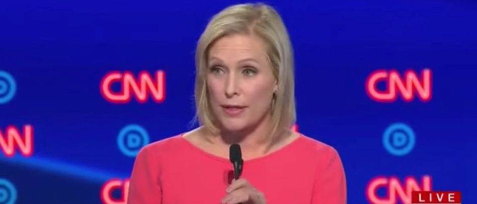 New York Sen. Kirsten Gillibrand speaks at Democratic debate in Detroit, July 31, 2019. (YouTube screen capture)