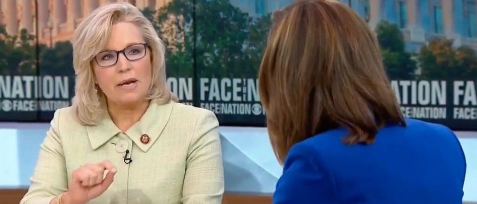 "Wyoming Rep. Liz Cheney on ""Face the Nation,"" July 21, 2019. (YouTube screen capture)"