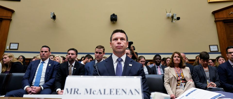 Acting Homeland Security Secretary McAleenan testifies before House Oversight Committee hearing on Trump Administration immigration policy on Capitol Hill in Washington
