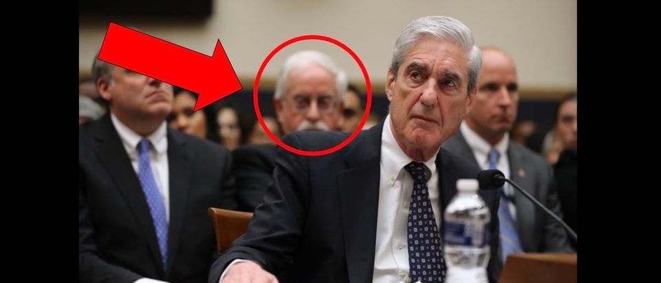 Robert Mueller Hearing Mustache Guy (Credit: Getty Images/Chip Somodevilla With Edits)