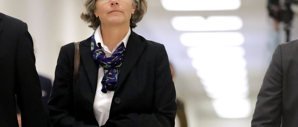 WASHINGTON, DC - OCTOBER 19: Fusion GPS contractor Nellie Ohr arrives for a closed-door interview with investigators from the House Judiciary and Oversight committees in the Rayburn House Office Building on Capitol Hill October 19, 2018 in Washington, DC. Ohr, wife of senior Justice Department official Bruce Ohr, is being investigated about the opposition research dossier about then-candidate Donald Trump's alleged personal and business ties to Russia that Republicans say is at the center of alleged Department of Justice misconduct during the 2016 election. (Photo by Chip Somodevilla/Getty Images)