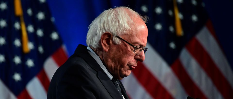 Bernie Sanders looks dejected. (Erin Scott/REUTERS)