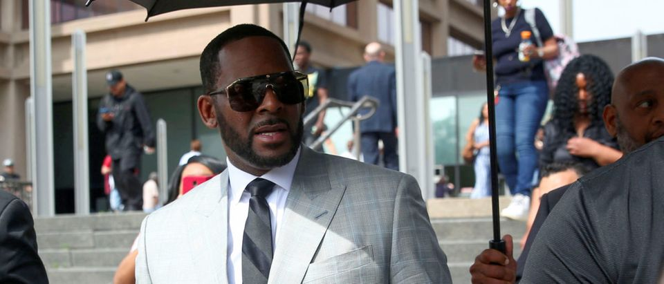 R. Kelly at the Criminal Court Building in Chicago