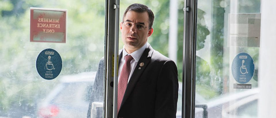 Rep. Justin Amash, R-Mich., arrives in Rayburn Building on Wednesday, June 26, 2019
