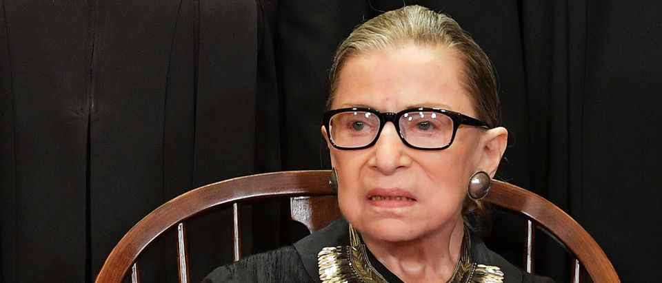 Justice Ruth Bader Ginsburg poses for an official photo at the Supreme Court on November 30, 2018. (Mandel Ngan/AFP/Getty Images)