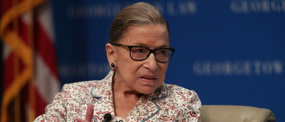 Justice Ruth Bader Ginsburg participates in a discussion at Georgetown University Law Center on July 2, 2019. (Alex Wong/Getty Images)