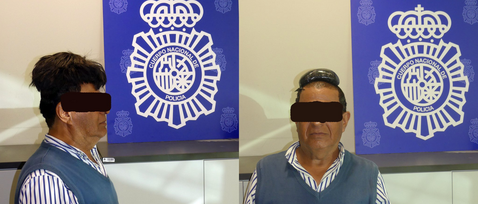 Cocaine wig man. @POLICIA/TAI