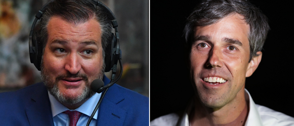 Ted Cruz (Larry French, Getty Images for SiriusXM) Beto O'Rourke (Chip Smodevilla, Getty Images)