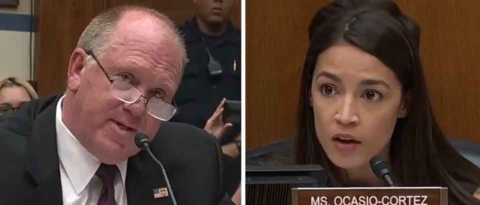 Tom Homan counters Alexandria Ocasio-Cortez on immigration (CSPAN screengrabs)