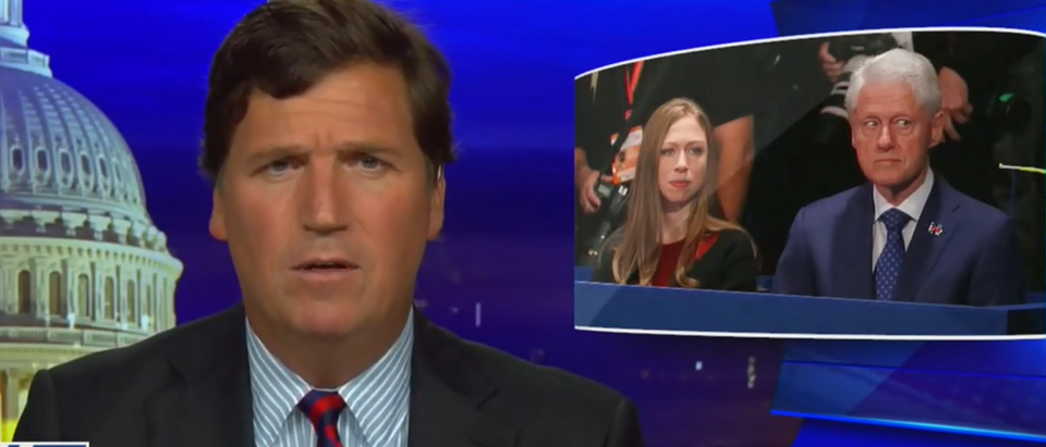 Tucker Carlson discusses the real college scandal (Fox News screengrab)