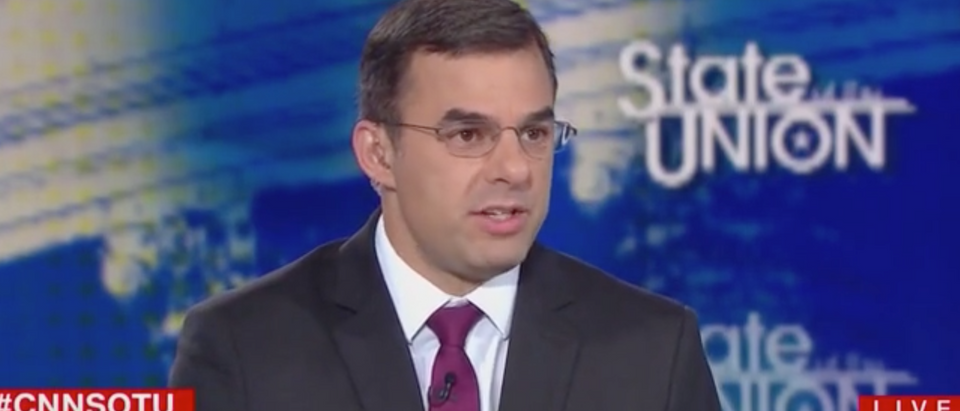 Independent Michigan Rep. Justin Amash appears on CNN's SOTU. Screen Shot/CNN